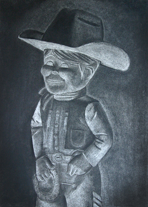 Charcoal Drawing  ::  Dude Cowboy