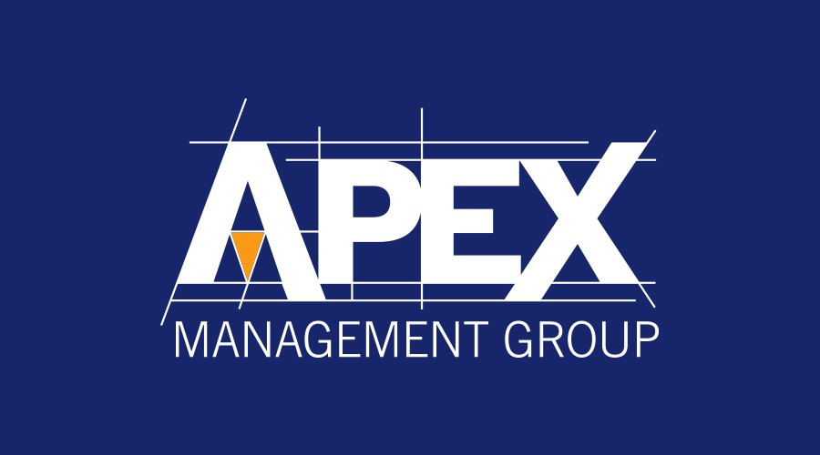 The  Apex Management Group  wanted a logo that portrayed exactly what they do. In the initial phases of creating the logo we wanted to really bring in the aspects of building. After a few revisions of different ideas and fonts, we produced a brand that includes the architecture blue prints.