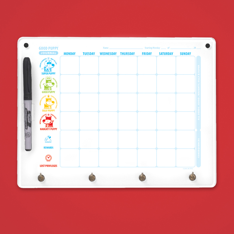 GOOD PUPPY® CBS WEEKLY JOURNAL DRY ERASE BOARD
