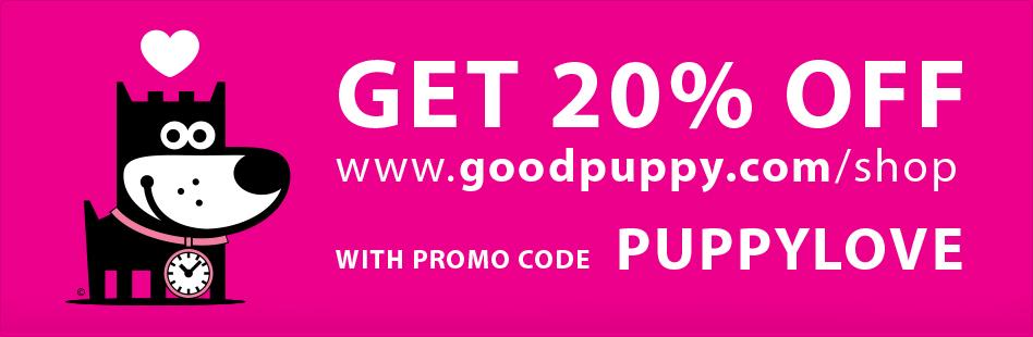 20% OFF at GOODPUPPY.COM