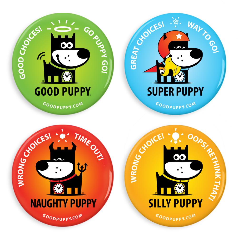 GOOD PUPPY Children Behavioral & Emotional System Fridge Puppies Magnet Set