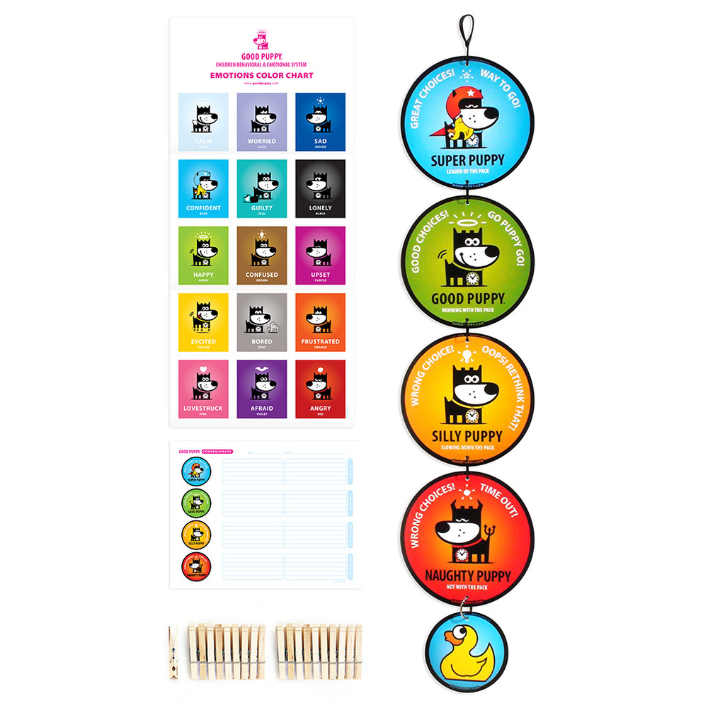 GOOD PUPPY Children Behavioral & Emotional System Pack Hanging Set