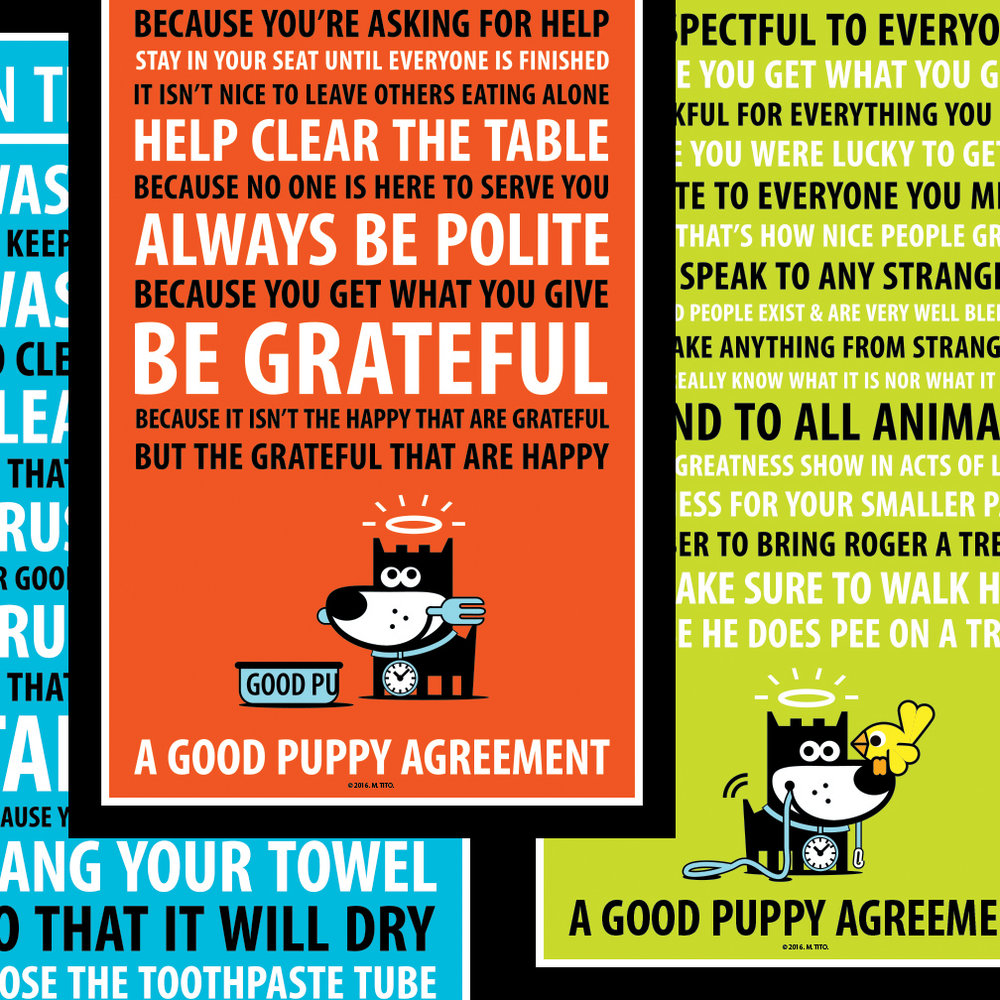 GOOD PUPPY . Printable PDF . Agreements Mini
