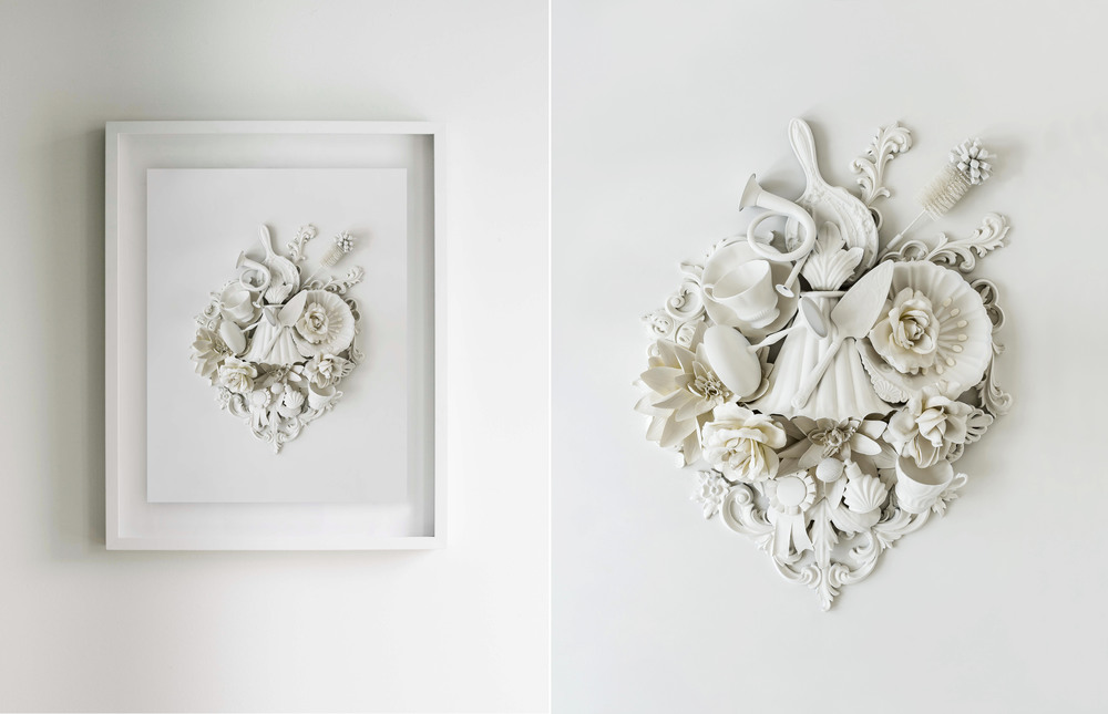 Introducing - 'My Heart's Content' A nod to the uncompromised beauty of 19th century plasterwork mouldings and an ode to a bygone area of extreme opulence. While it too could be seen as purely decorative, look closely and you will see that it is not cherubin, fleur de lis, and stylised foliage as might be expected, but instead is a collection of beautiful reminders … Reminders to savour moments and memories - champagne with friends, tea with your mum, a neighbour or even a stranger. To blow your own trumpet - pin your achievements to your chest and celebrate those of others. To take pride in everything you do - even if it's just washing the dishes! To allow yourself indulgences - a spritz of perfume, a slice of cake, time to smell the roses. And mostly, to be grateful for it all, for it is in gratitude that we find contentment.