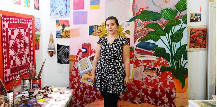 Anna Valdez in her studio.