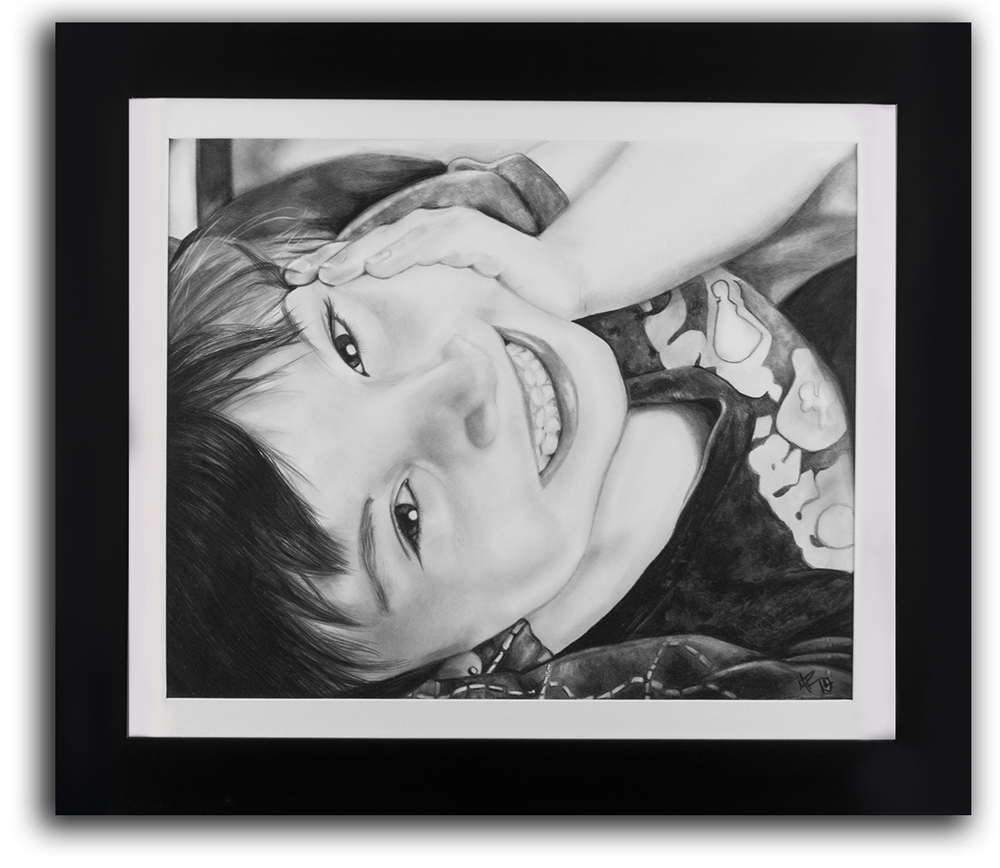 "Artwork: 14x17""  Frame: 19x22"""