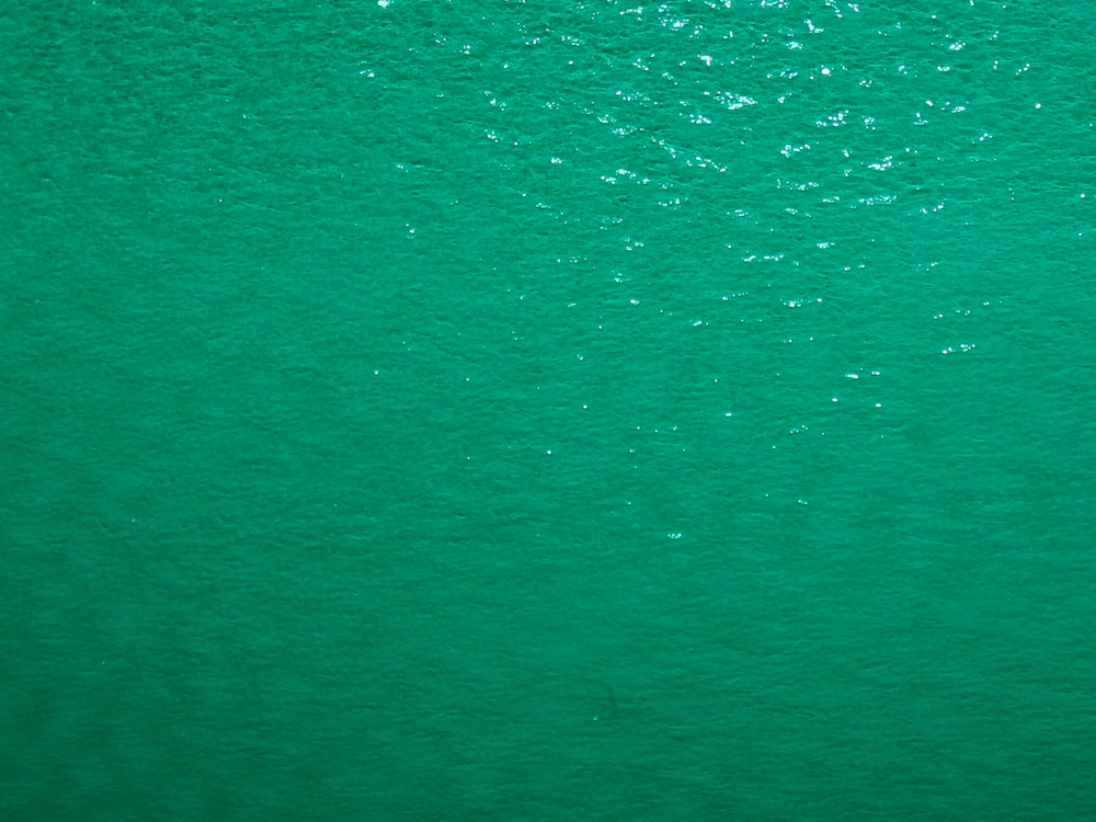 "Turquoise   transparent  ""Rough Rolled"" texture"