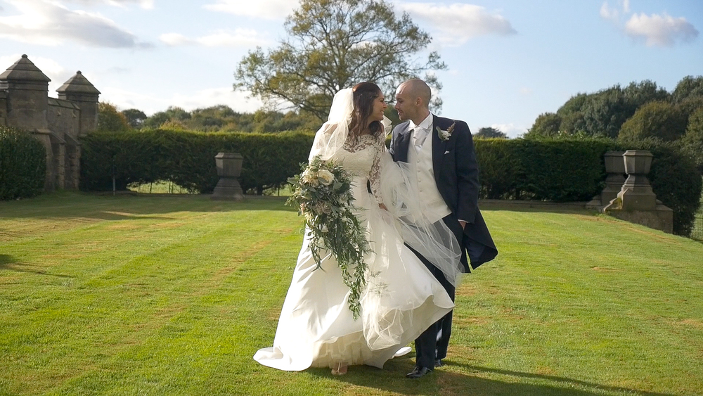 Kevin and Chloe at Allerton Castle