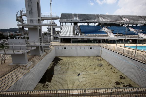 An empty and unused olympic facility from the Greek Games 2004.