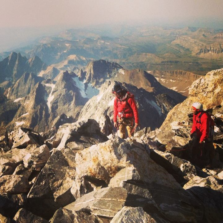 Summiting Grand Teton this summer.