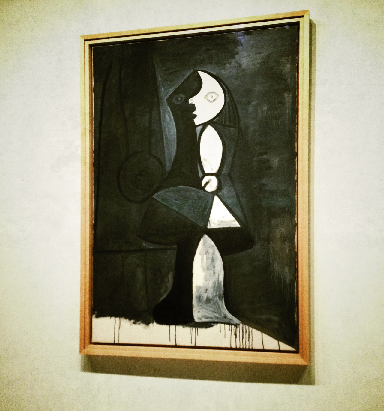 My favorite painting at Guggenheim's Picasso black & white museum