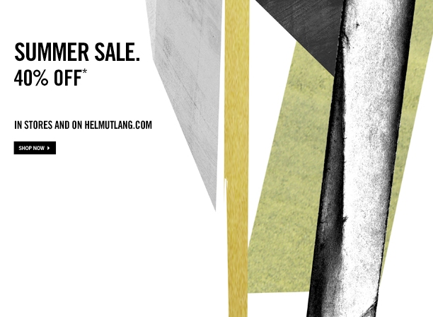 hlangjournal :       SUMMER SALE. 40% OFF.      Now  In Stores  and  Online.