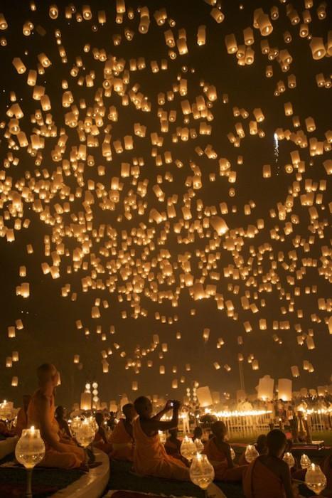 Beautiful! Lantern Festival, Chiang Mai, Thailand