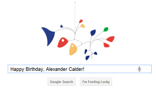 Beautiful interactive doodle on google.com today, honoring Alexander Calder