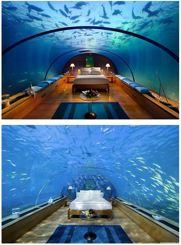 Underwater bedroom in Maldives. Let's go? :)