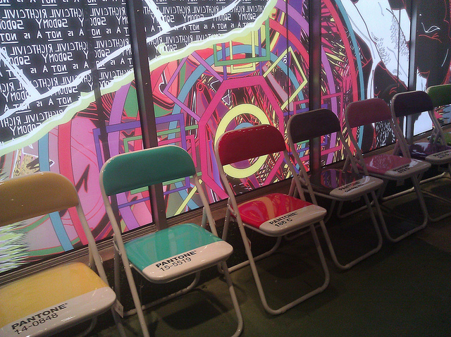 Nice pantone foldable chairs.