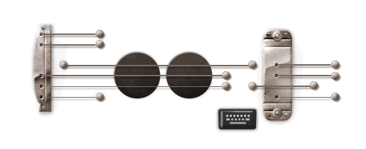 gorgeous one today!    oliphillips :     Google Doodle for Les Paul. Love this one   Check it out, you actually play it!