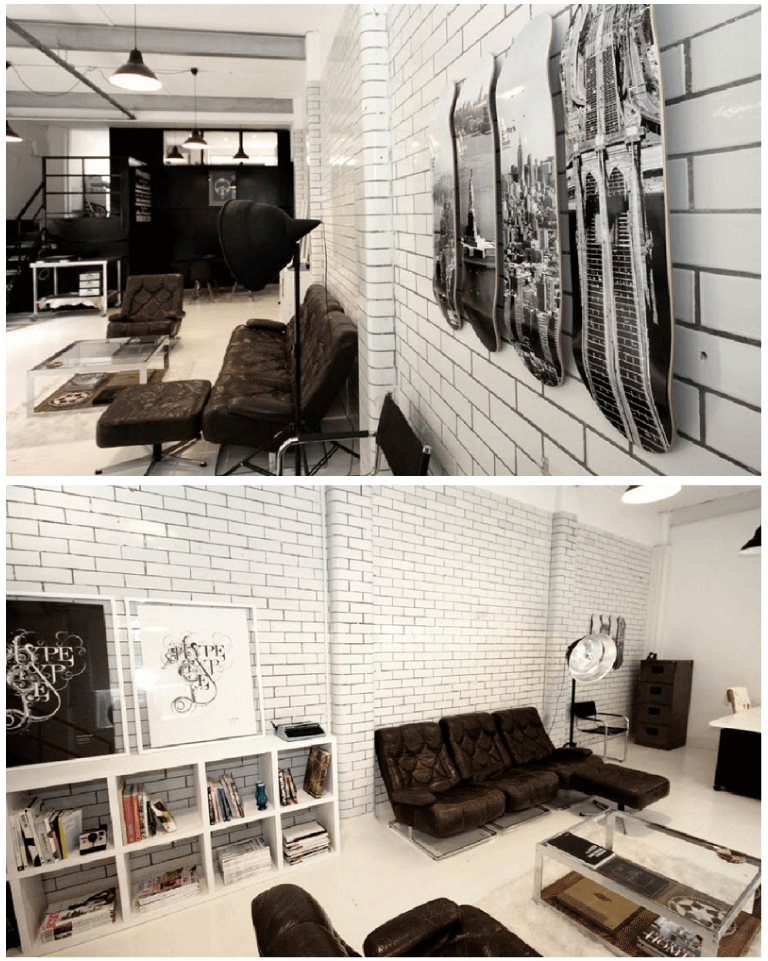 oliphillips :      Candy Black Studio      Would love to have an office space like this or an apartment :)