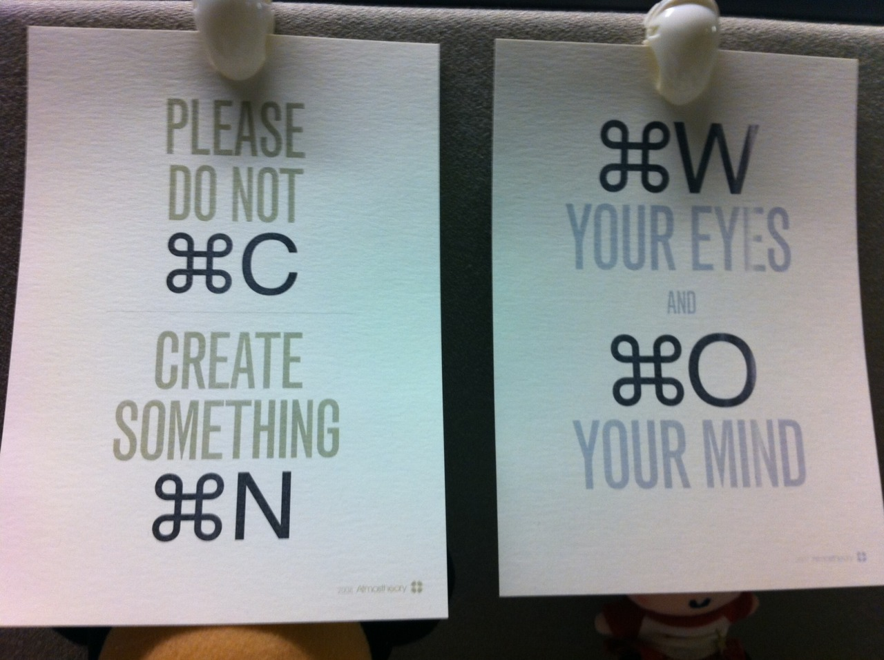 nice phrase in geeky language.   thanks for placing this on my desk Manuel Lima! :)