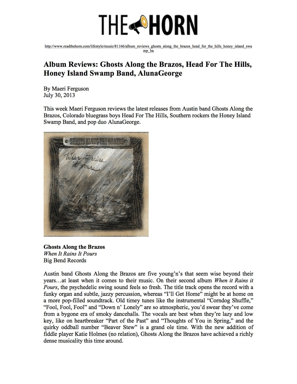 Big Bend Records_Ghosts Along the Brazos_The Horn_July 30, 2013 jpeg.jpg