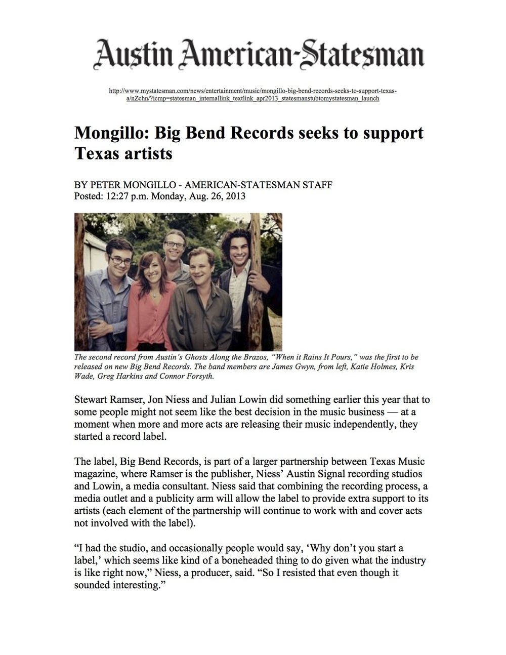 Big Bend Records_Austin American-Statesman_August 26, 2013 jpeg.jpg