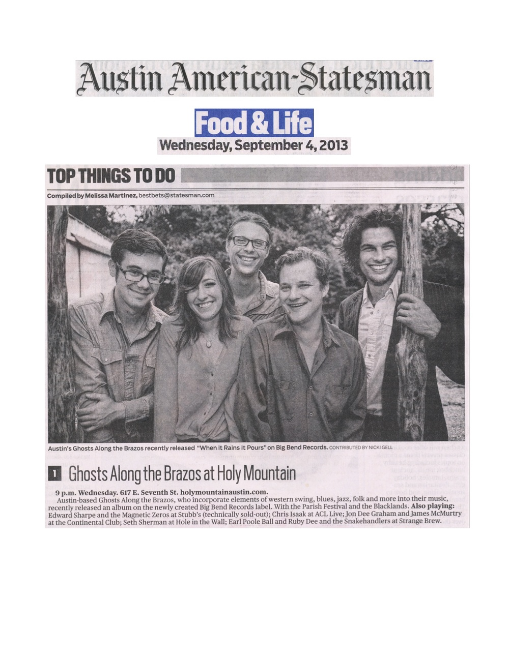 Big Bend Records_Ghosts Along The Brazos_Austin American-Statesman_Sept. 4, 2013 jpeg.jpg