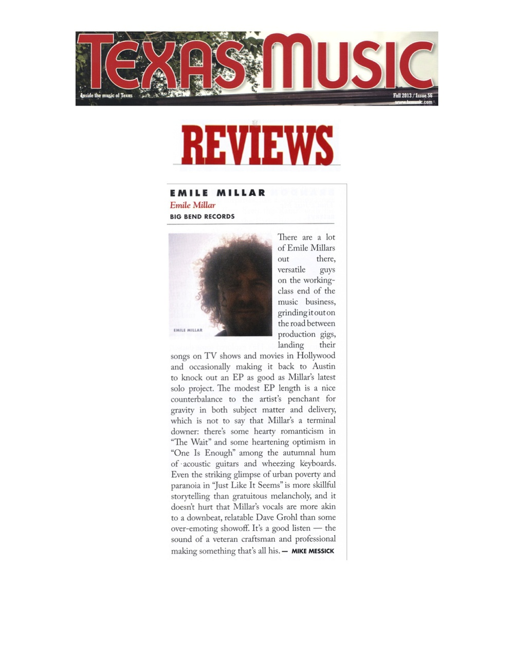 Big Bend Records_Emile Millar_Texas Music Magazine_Fall 2013 jpeg.jpg