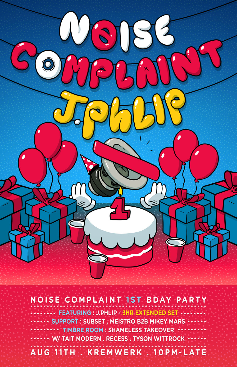 Noise Complaint Bday Flyer
