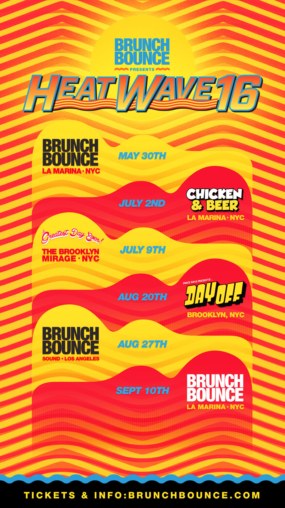 Tour Flyer For Brunch Bounce