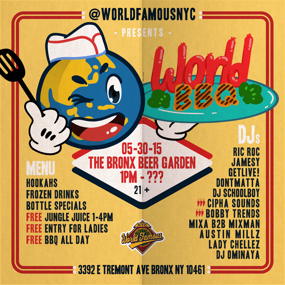 Flyer for  World Famous BBQ