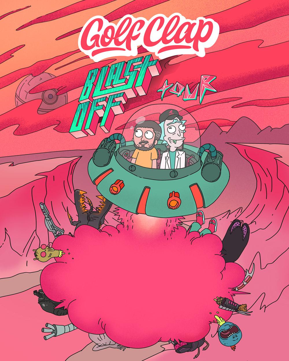 Tour Flyer for Gold Clap