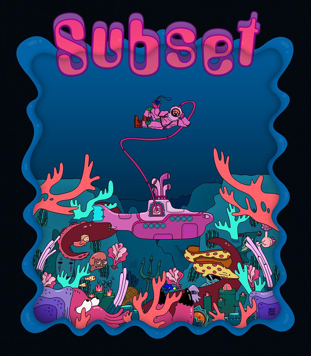 Shirt / Poster for Subset's Holyship 2017 tour