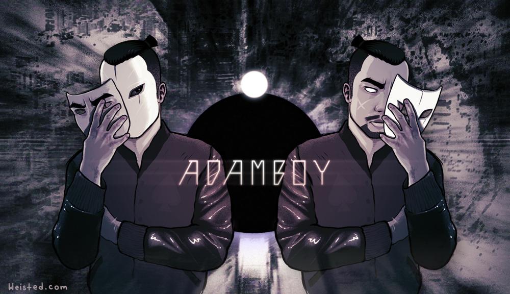 Poster for LA based DJ  AdamBoy  inspired by  Akira  [Digital]