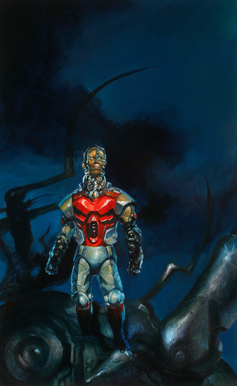 Oil Painting of  Marvel's   Deathlok