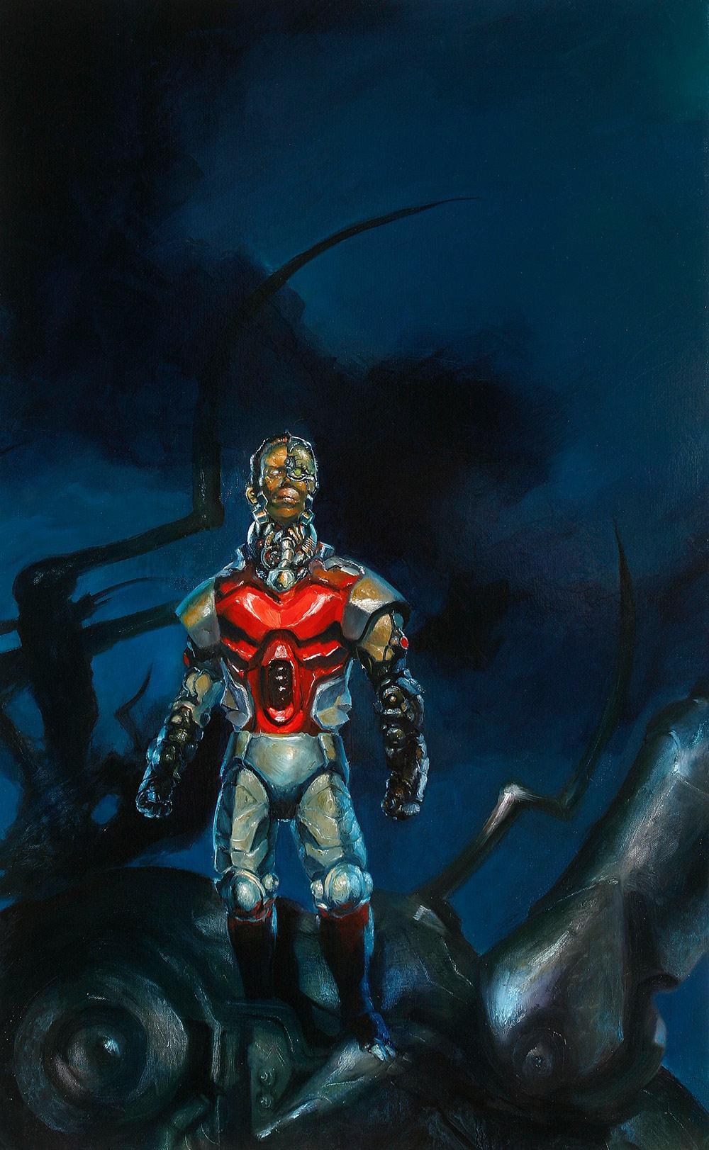 Oil Painting of  Marvel's   Deathlok