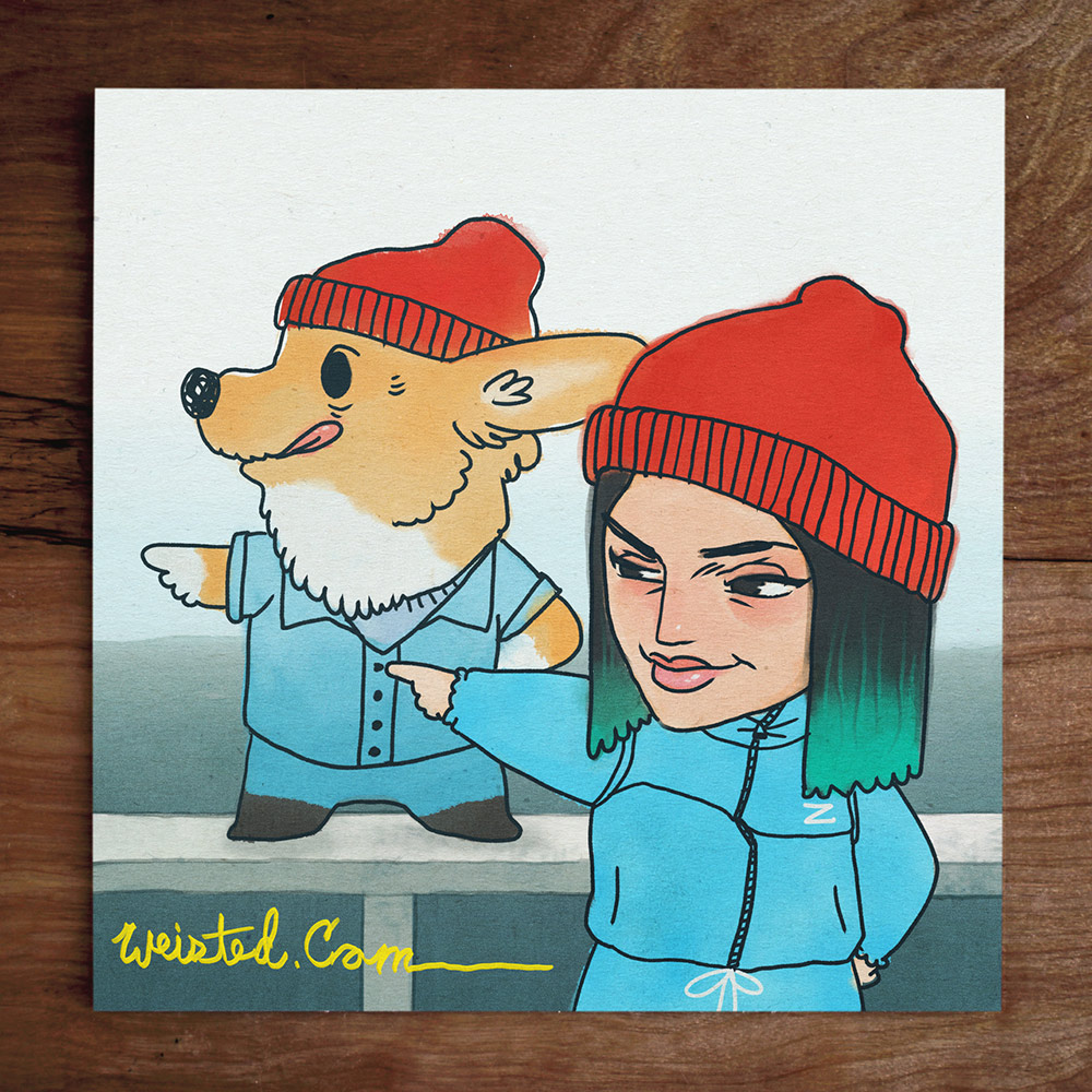 Model No.43: @melissanatti & her pup Freddie: Team Zissou #LifeAquatic
