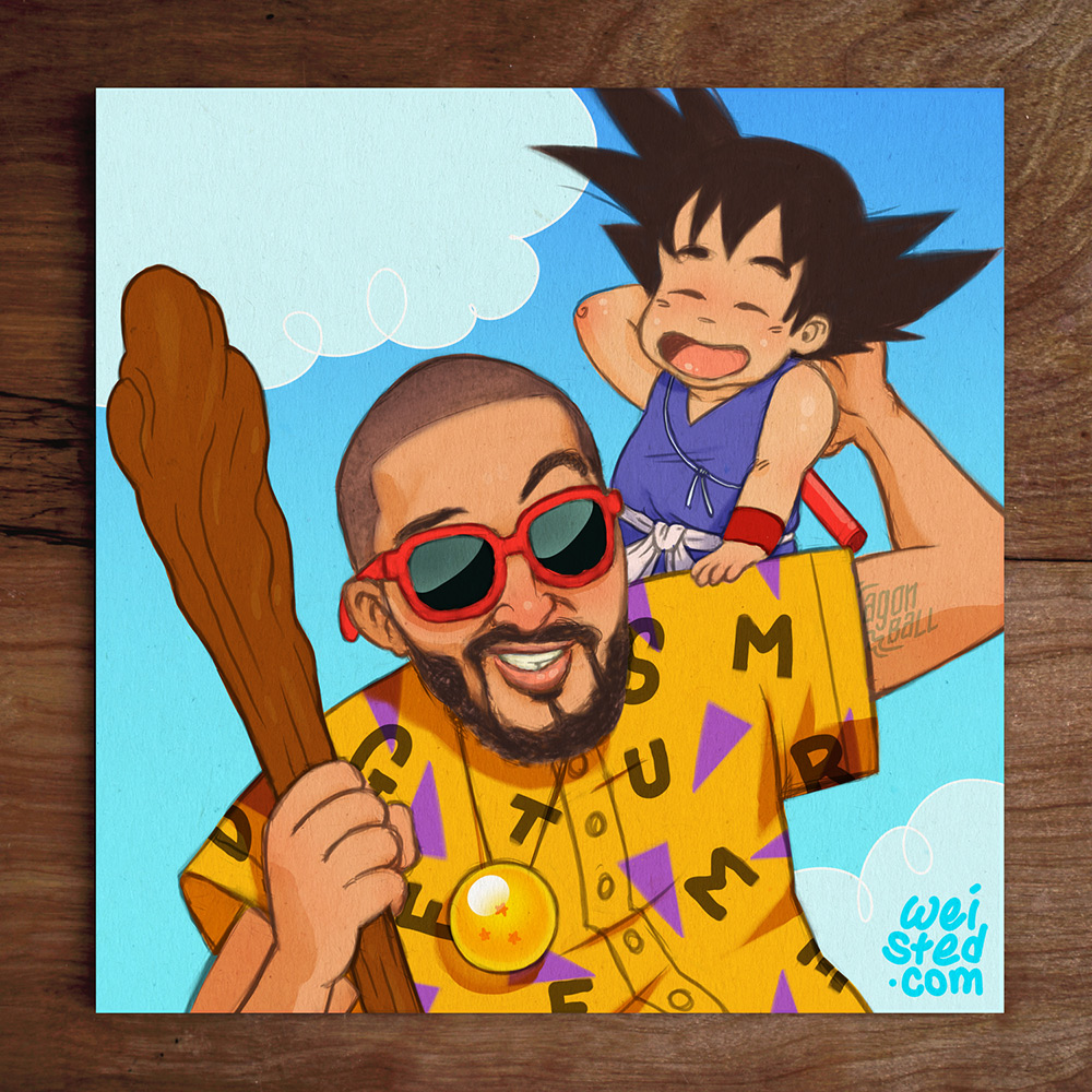 Model No.22 @DirtyBoogie & His Son as Master Roshi & Yung Goku