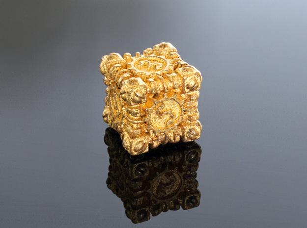 Metal Steampunk Die Cube (Gold)