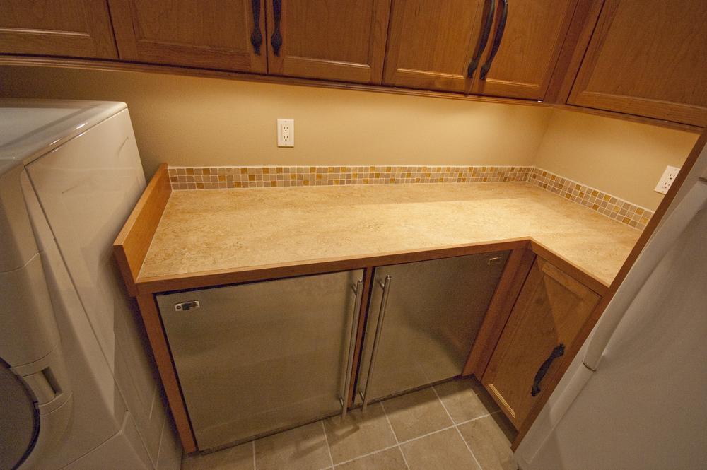 Full depth under counter refrigerator and freezer