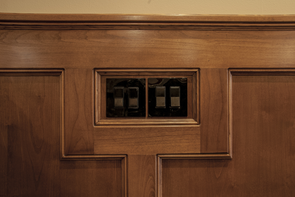 Our favorite part of this room was the raised panel millwork meticulously installed by our Sr. PM and master carpenter Fred Andrew who made every detail sing.
