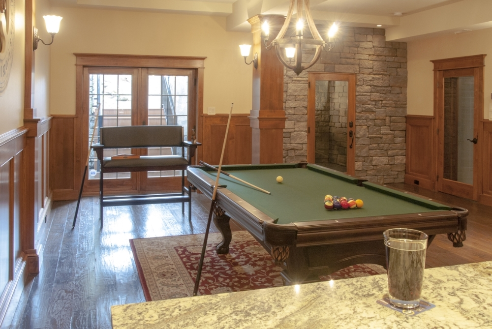 Granite bar top and pool table