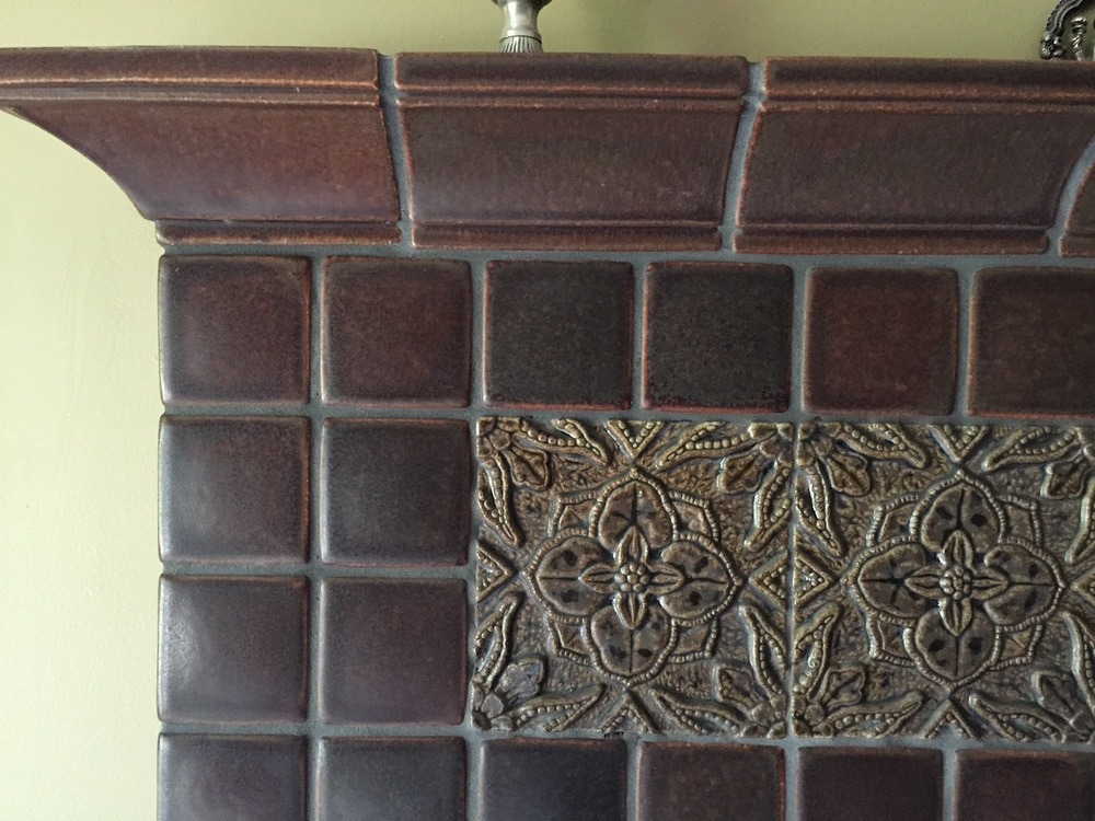 The slight imperfections of hand made tile are what makes it a work of art.