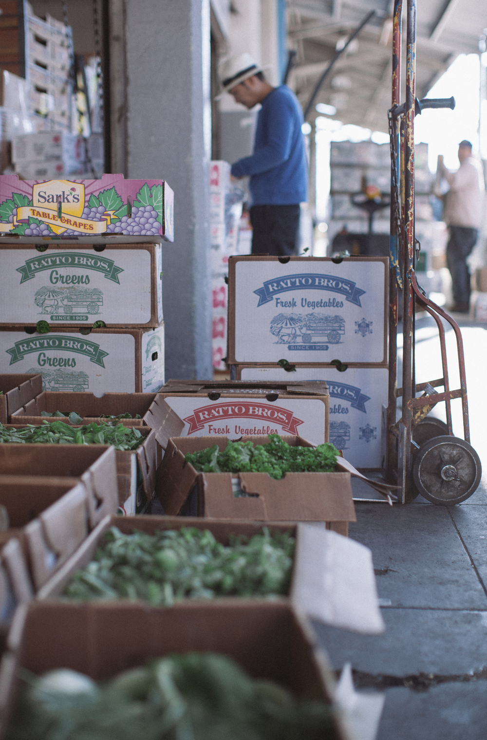 Warehouses are open, selling fresh produce each morning.