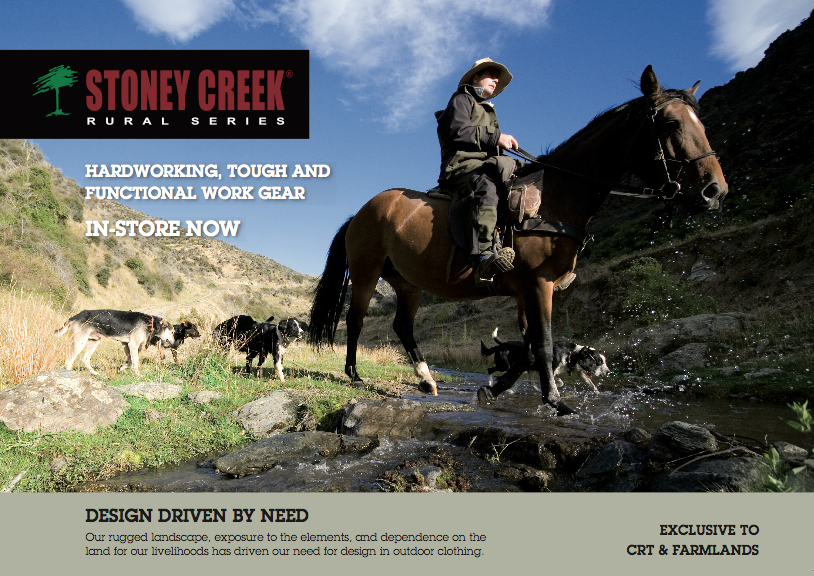 BrandCom assisted Stoney Creek in telling the story of how they came to evolve from just hunting gear, into their rural series range for farmers, this story is designed to take their loyal hunting customers with them as they moved the company into new territory.   > View Brochure