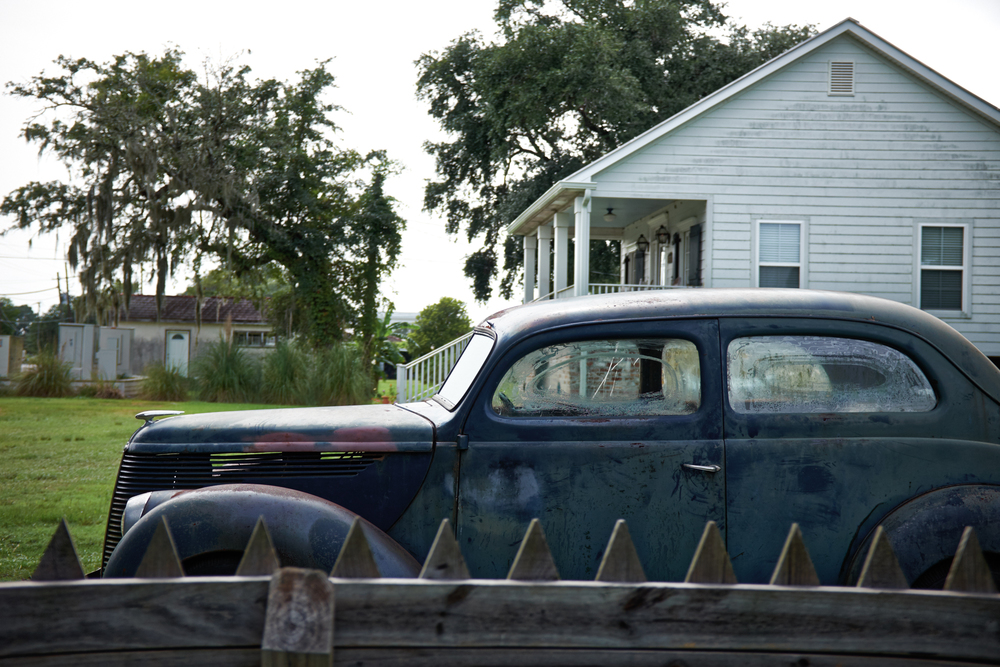 Antique car in St. Bernard Parish, LA. (©Carlos Detres 2015)