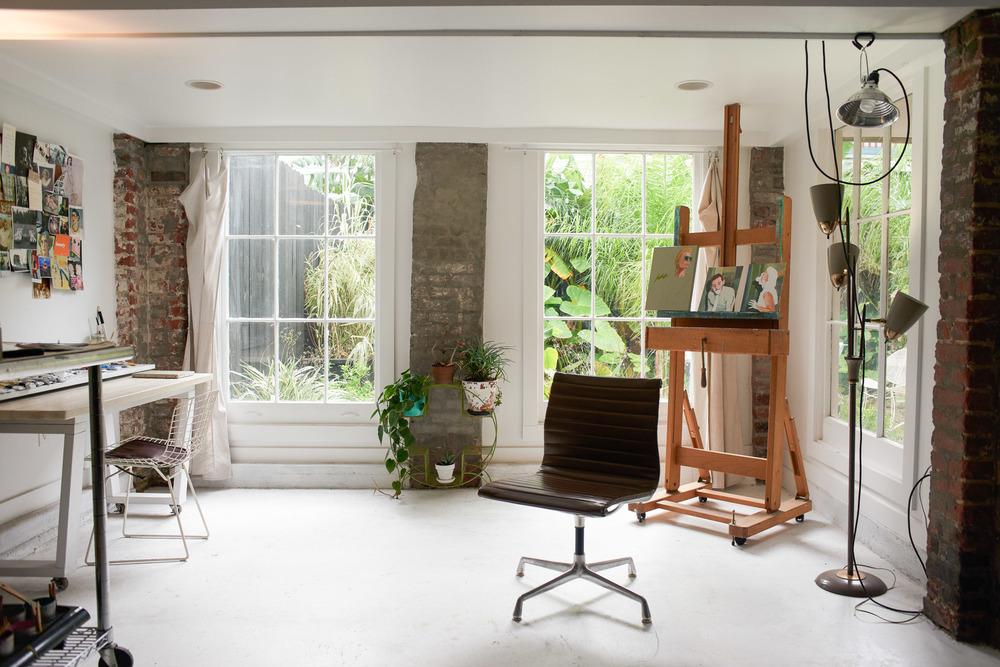 Hayley Gaberlavage's studio in the Lower Garden District of New Orleans, LA