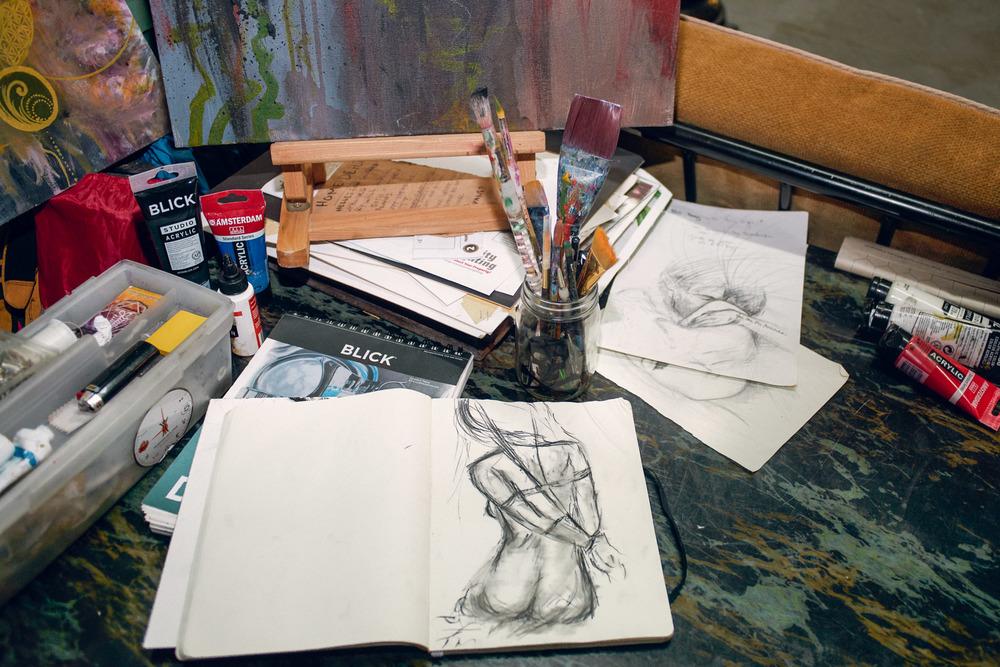 Lauren Begent's sketches.
