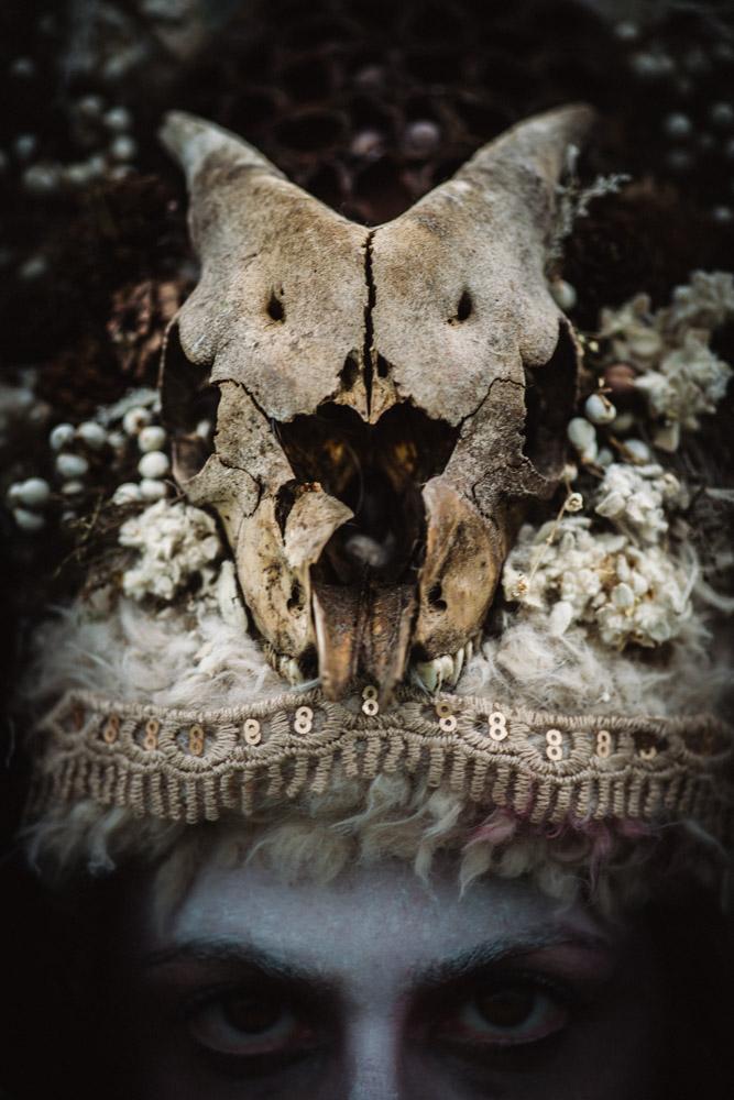 Aryn DeKaye with Headpiece Designed by Chloe Rose
