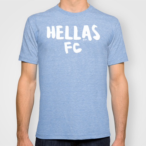 "Show your support for Greek soccer with this ""Hellas FC"" shirt for the Greece National football team."
