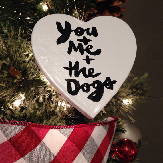 You + Me + The Dogs Ornament, Kosta Finnllow